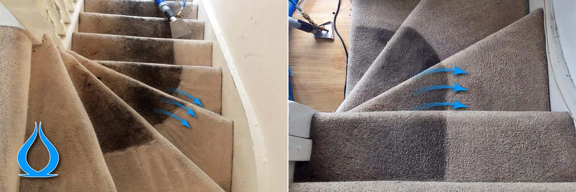 Carpet cleaning in chelsea london sw3 sw10 carpet cleanic staircase carpet cleaning before after solutioingenieria Image collections